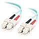 1m SC-SC 10Gb 50/125 OM3 Duplex Multimode Fiber Optic Cable (TAA Compliant) - Aqua - Fiber Optic for Network Device - SC Male - SC Male - 10Gb - 50/125 - Duplex Multimode - OM3 - 10GBase-SR, 10GBase-LRM - TAA Compliant - 1m - Aqua