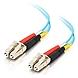 C2G 15m LC-LC 10Gb 50/125 OM3 Duplex Multimode PVC Fiber Optic Cable (USA-Made) - Aqua - Fiber Optic for Network Device - LC Male - LC Male - 10Gb - 50/125 - Duplex Multimode - OM3 - 10GBase-SR, 10GBase-LRM - USA-Made - 15m - Aqua