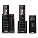 VTech IS7121-2 DECT 6.0 Expandable Cordless Phone with Audio/Video Doorbell and Answering System, Black, 2 Handsets with 1 Video Doorbell - 1.8
