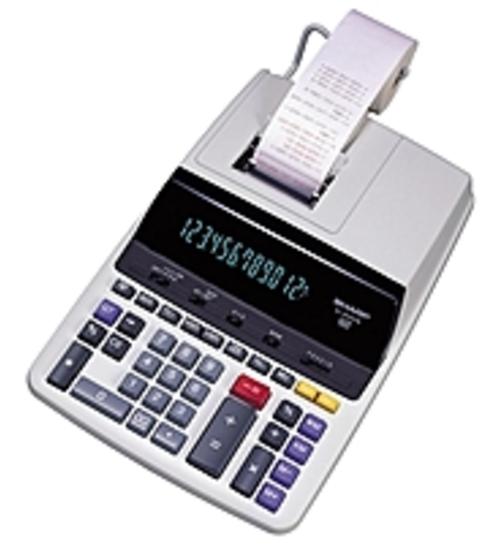 Sharp EL-2630PIII 12-digit 2-Color Heavy-duty Ribbon Printing Calculator