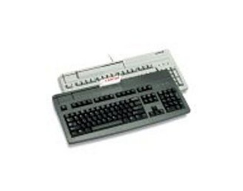 Cherry G81-8000LPDUS-2 G81-8000 PS/2 Keyboard with Magnetic Stripe Reader - Wired - Black