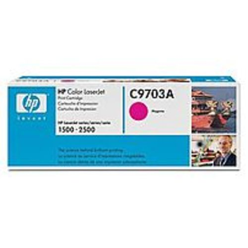 HP C9703A Toner Cartridge for Color Laserjet 1500 and 2500 Series - 4,000 Pages - Magenta