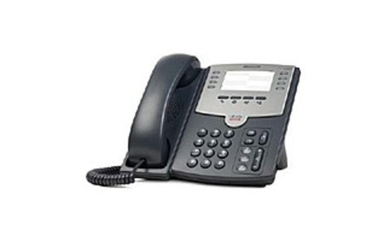 Cisco SPA501G 8-Lines IP Phone - RJ-9 Handset, RJ-45 10/100Base-TX PoE LAN, Sub-mini phone Headset