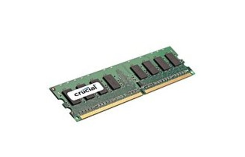 Crucial Technology CT12864AA800 1 GB Memory Module - DDR2 - 240-pin DIMM - 800 MHz - PC6400 (CT12864AA800_C2) photo