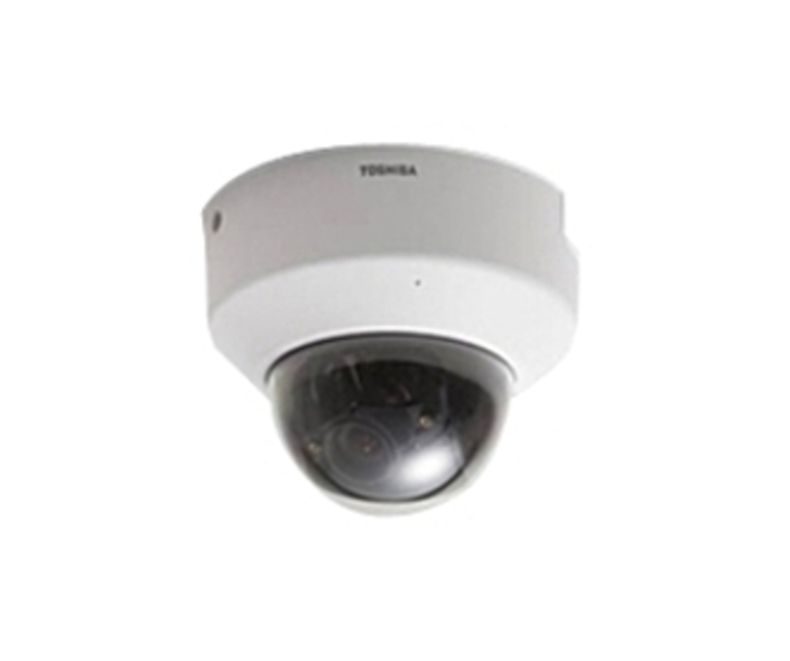 Toshiba IK-WD01A IP Network Mini Dome Camera - Power over Ethernet - 640 x 480 - 3.6x Optical Zoom - 2-4 mm Lens - Misty white