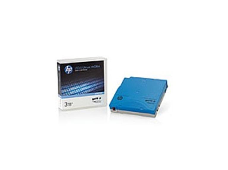 HP C7975W LTO-5 Ultrium 3 TB WORM Custom Labeled Data Cartridge - 1.5 TB - Light Blue