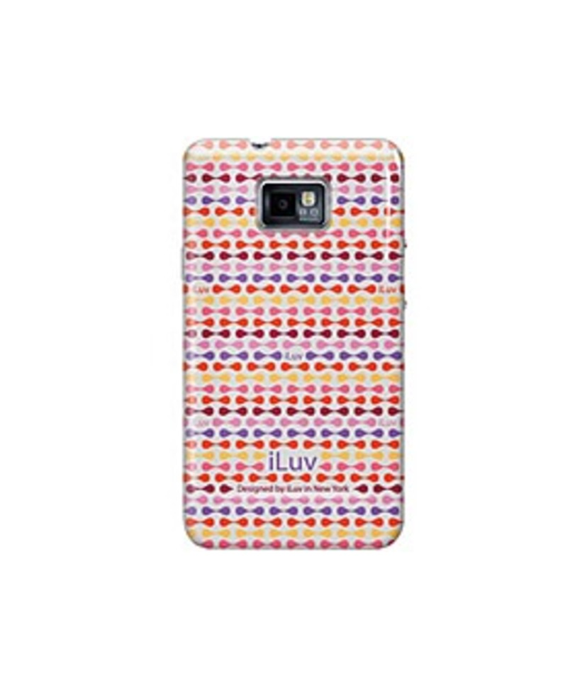 ILuv ISS222RED Hardshell Case with Pattern for Galaxy S II - Red