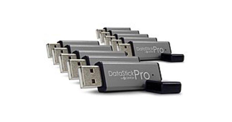 Centon DataStick Pro DSP4GB10PK 4 GB Flash Drive - USB 2.0 - 10-Pack - Gray