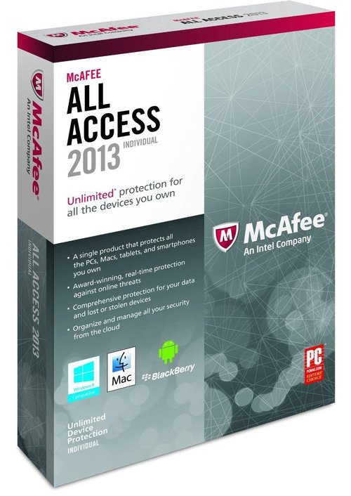 McAfee AAI13EMB1RAA All Access Individual 2013 for Windows - Complete Package - 1 User