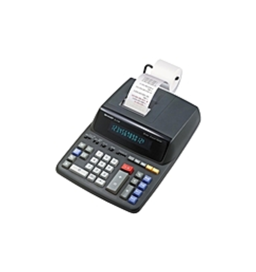 Sharp EL-2196BL Heavy Duty Color Printing Calculator with Clock and Calendar