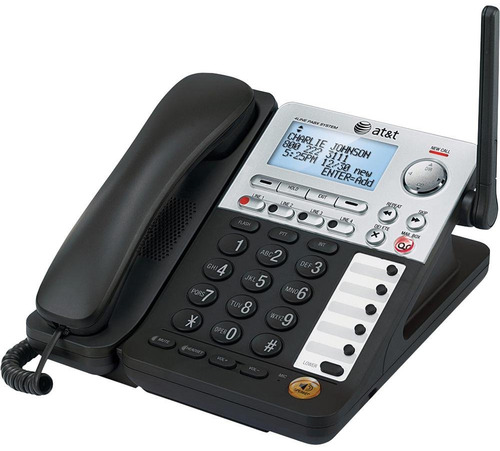 AT&T SynJ SB67148 4-Line Cordless Phone - DECT 6.0 - LCD Display - Caller ID/Call Waiting