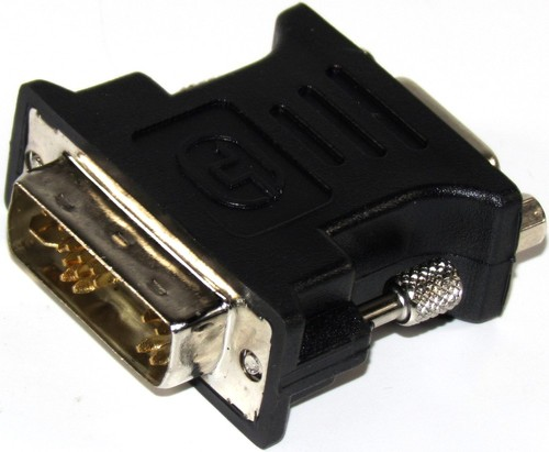 Generic G01-DVI-VGA-BK-F Video Adapter - 1 x DVI-A Male, 1 x VGA HD 15 Female