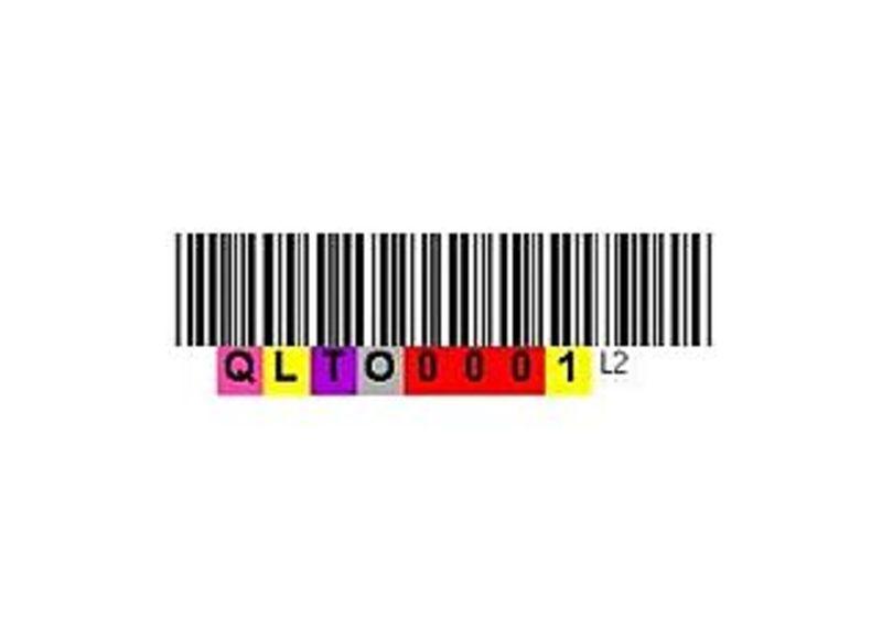 Quantum Cleaning Cartridge Barcode Label