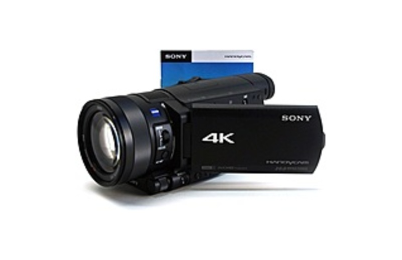 """Image of Sony Handycam FDR-AX100 Digital Camcorder - 3.5"""" - Touchscreen LCD - CMOS - 4K - Black - 16:9 - 20 Megapixel Image - 14.2 Megapixel Video - MP4, AVCHD"""