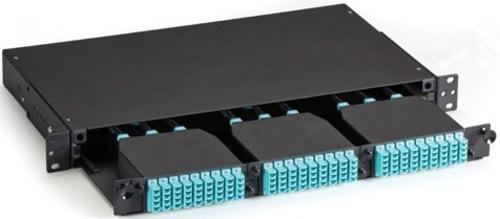 Image of Black Box FOEN50HD-3H-1U High-Density Fiber Optic Enclosure - 3 x HD Slots in 1U