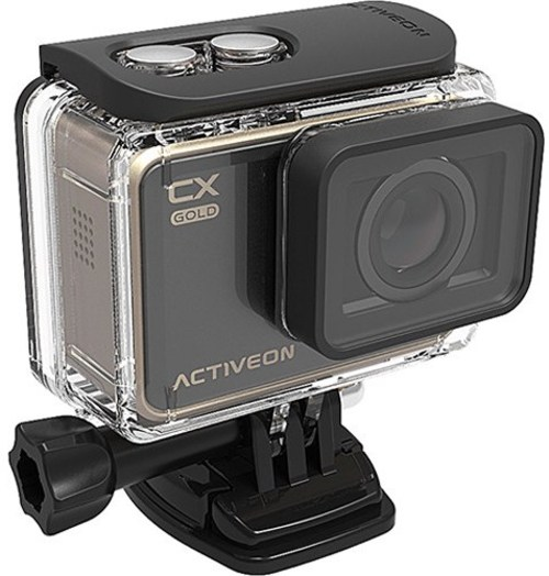 ACTIVEON GCA10W 16 Megapixel CX Gold Action Camera - 4x Digital Zoom - 2-inch LCD Touchscreen - F/2.4 Super Wide Lens - Black, Gold