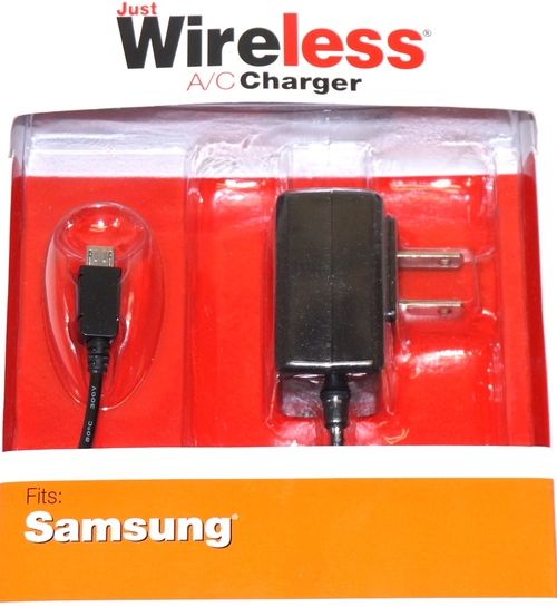 Just Wireless 705954042051 04205 A/C Micro USB Portable Wall Charger - Black