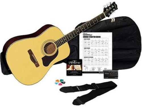 Silvertone SD3000PAK-NA Acoustic Guitar Package with Tuner - Natural