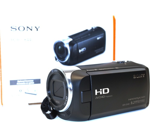 Sony CX440 HDR-CX440/B Full HD 60p Video Recording Handycam Camcorder - 30x Optical/350x Digital Zoom - 2.64-inch Clear Photo LCD display - 26.8 mm Wi