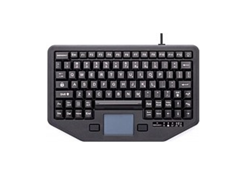 iKey IK-88-TP-USB Backlit Travel Keyboard with 88 Keys and Touchpad - Black