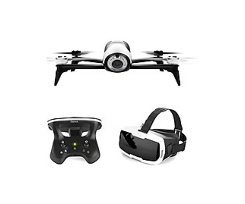 Parrot BeBop 2 PF726203 Drone With FPV Bundle - White
