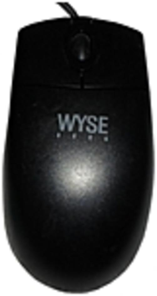 Wyse Optical Mouse - Optical - PS/2 - Black
