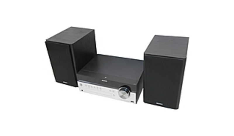 Sony CMT-SBT100 Micro Music System with Bluetooth, NFC - 50 Watts - Black, Silver