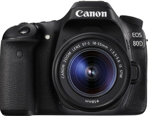 CANON EOS 80D 1263C005 24.2 Megapixel Digital SLR Camera - 3x Optical/10x Digital Zoom - 3-inch LCD Display - 18-55mm - Black