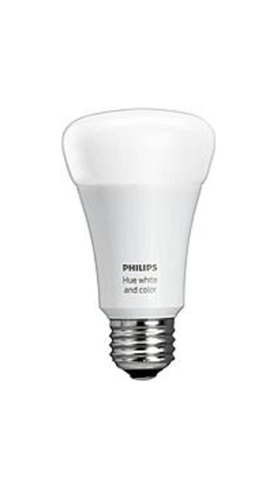 Philips 464487 Hue White and Color Ambiance A19 Single LED Bulb