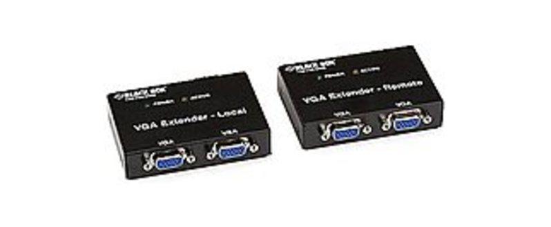 Black Box AC555A-R2 VGA Video Extender Kit - 2 Port Local - 2 Port Remote - Black