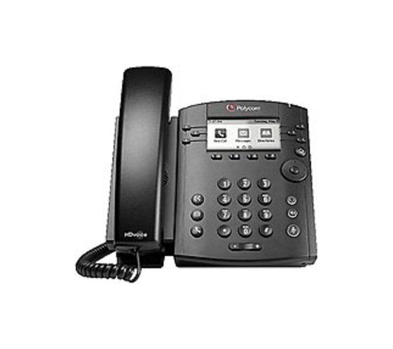 Polycom VVX 301 2200-48300-025 6-Line VoIP phone - LCD Display - 2 x Ethernet 10Base-T/100Base-TX/1000Base-T - SDP,SIP - Black