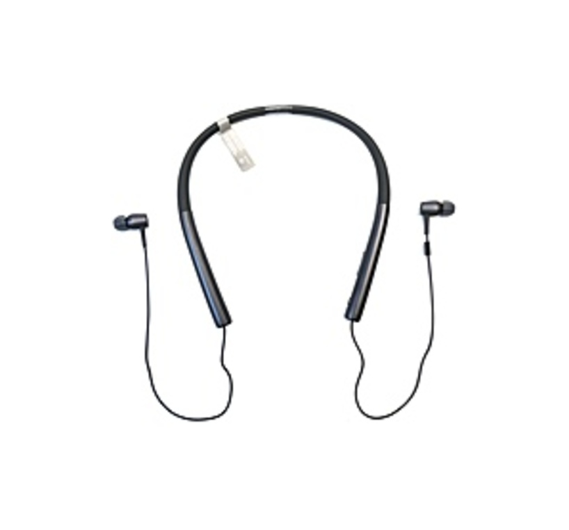 Sony h.ear in MDR-EX750BT Earset - Stereo - Charcoal Black - Mini-phone - Wired/Wireless - Bluetooth - 5 Hz - 40 kHz - Earbud, Behind-the-ear - Binaur