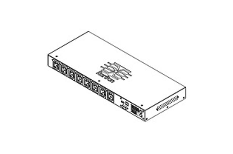 Raritan Dominion PX-2000 PX2-2166R 8-Outlets 1.9kVA PDU - 8 x IEC 60320 C13 - 120 V AC - 1900 VA - Network (RJ-45) - 1U - Horizontal - Rack Mount