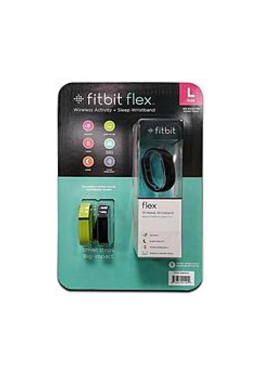 FitBit FB401CPL Flex Wireless Activity and Sleep Tracker - Large - Black with Lime and Navy Accessory Bands