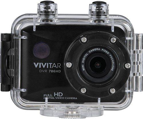 Vivitar DVR786HD 12.1 Megapixel Action Camera - 4x Optical/4x Digital - 2-inch LCD Display - Waterproof - Black