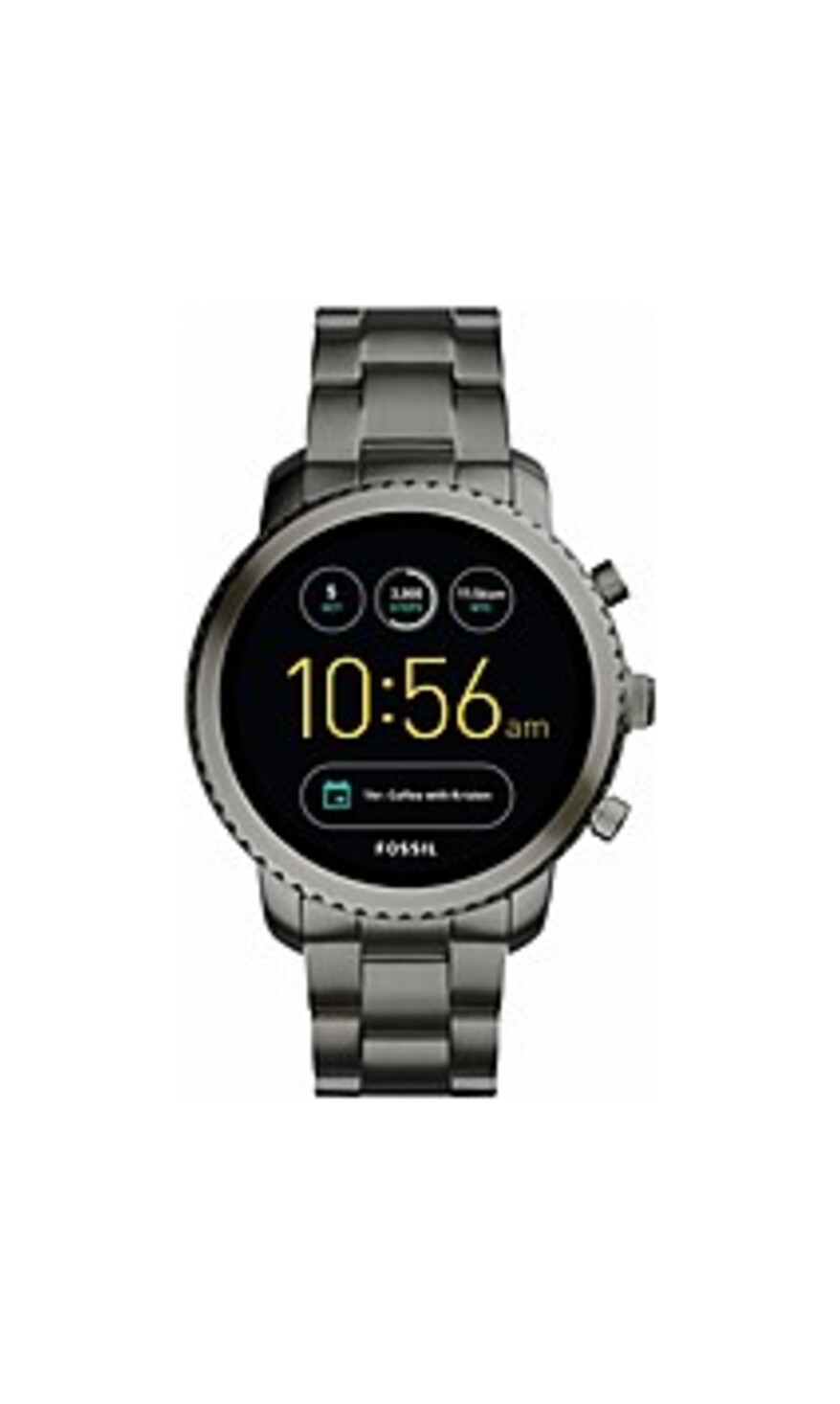 Fossil FTW4001 Q Explorist Generation 3 Smartwatch - 1.8-Inch Case Diameter - Smoke Stainless Steel