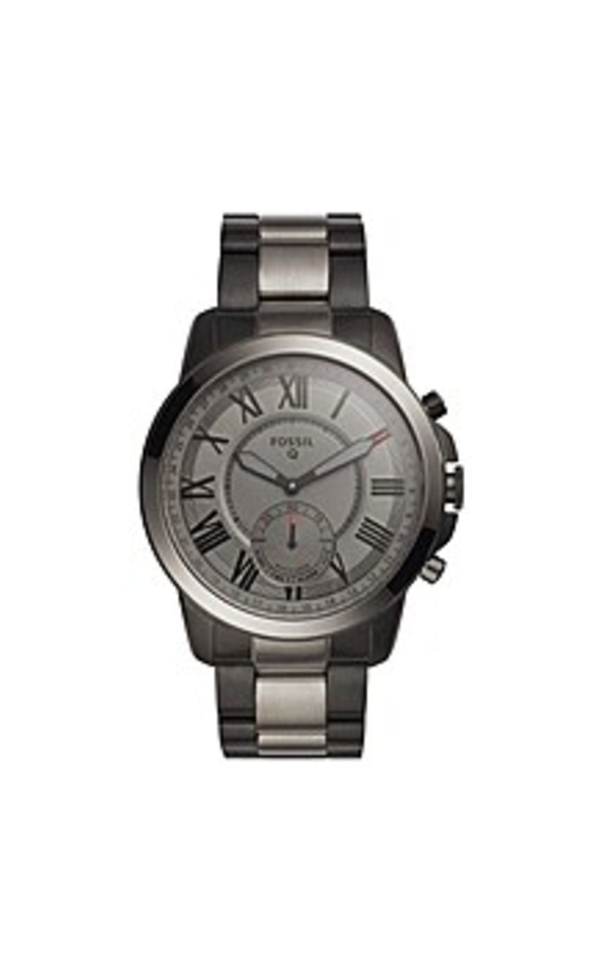 Fossil FTW1139 Q Grant Stainless Steel Hybrid Smartwatch - Black/Smoke