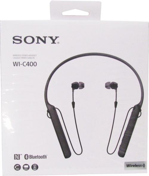 http://www.techforless.com - Sony WIC400/B Behind-The-Neck Wireless In Ear Headphones – Black 45.97 USD