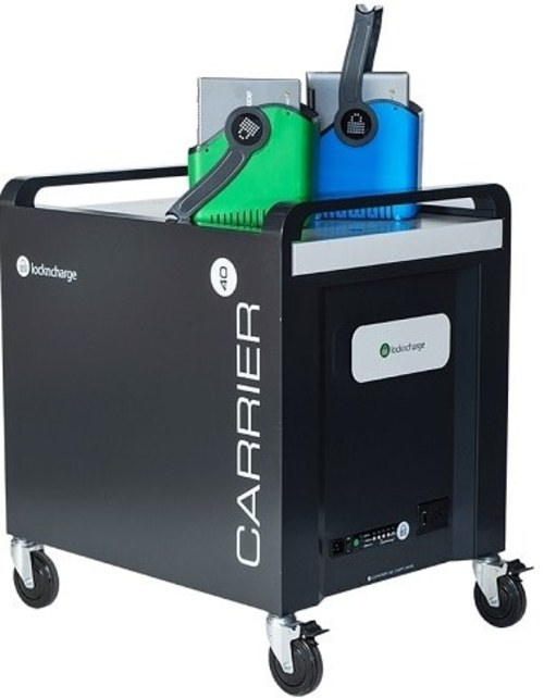 LocknCharge 9347210004604 10141 Carrier Charging Cart - Up to 40 Devices - Black