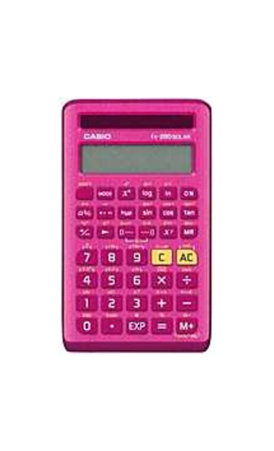 Casio FX-260SOLARII-PK 10-Digit Display Scientific Calculator - Pink