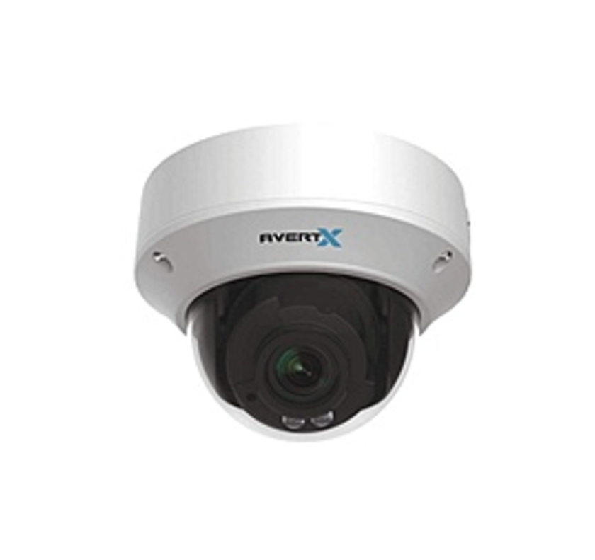 AvertX AVX-HD820IR Indoor/Outdoor IP HD Plus Dome Camera - 4 Megapixels - 4x Optical Zoom - Night Vision - Built-in Heater -