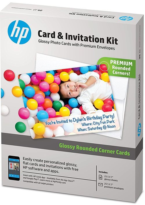 HP K6B84A Cards and Invitation Kit with Envelopes - 5x7-inch - 25 Sheets
