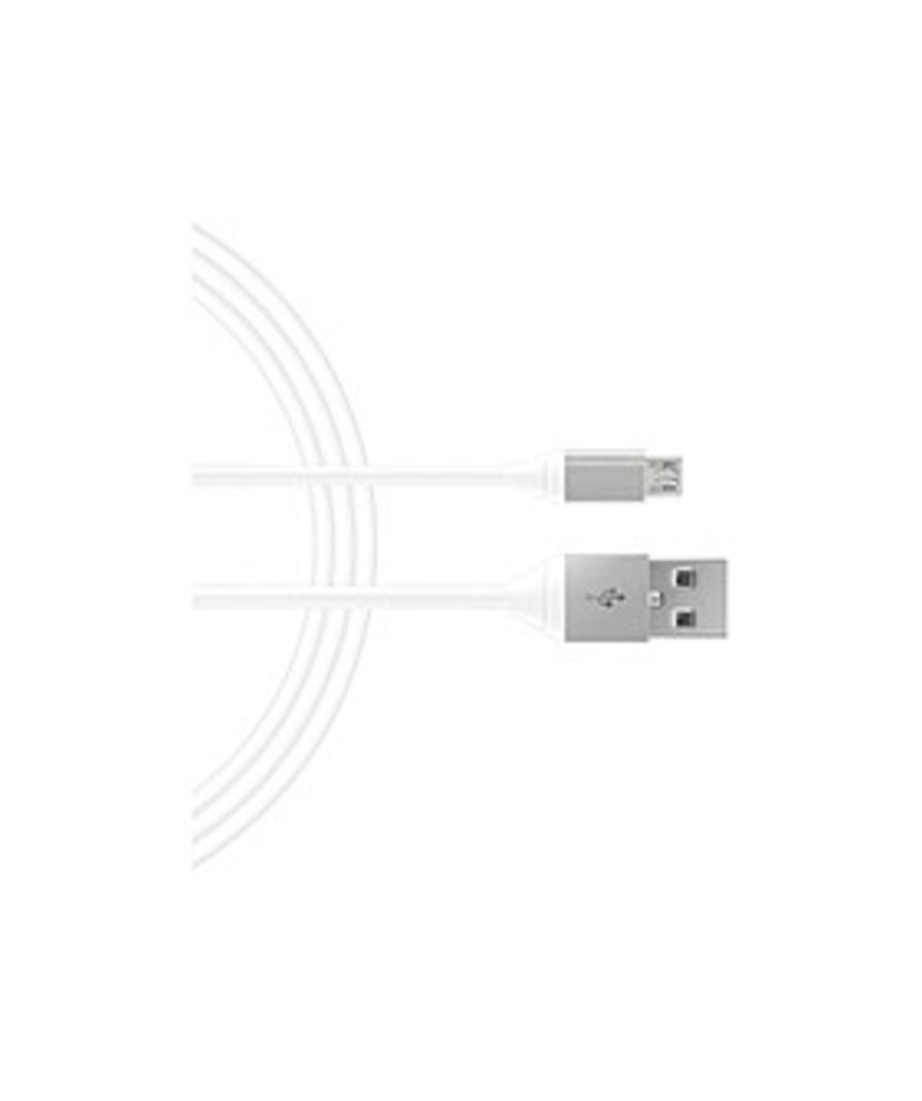 Just_Wireless_05143_6_Feet_Micro_USB_to_USB_Charging_Cable_-_Light_Gray