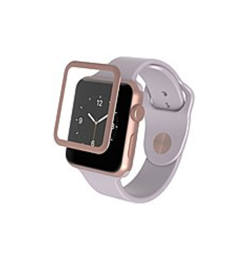 invisibleSHIELD Glass Luxe HD Clarity + Reinforced Screen Protection Rose Gold, Crystal Clear - LCD Apple Watch