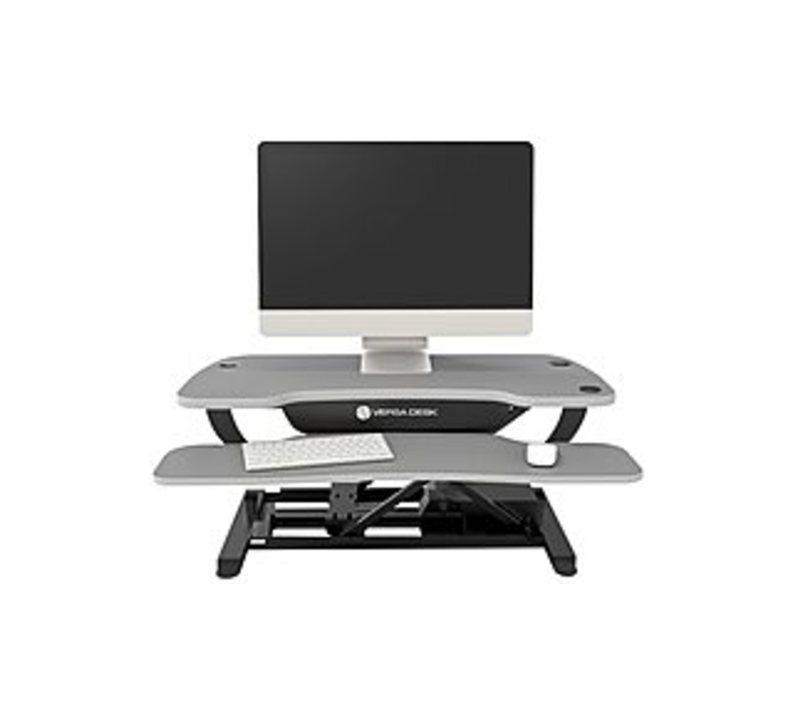 Versa Tables VT7643624-00-03 VersaDesk Power Pro 36-inch Electric Height Adjustable Standing Desk Riser - Gray