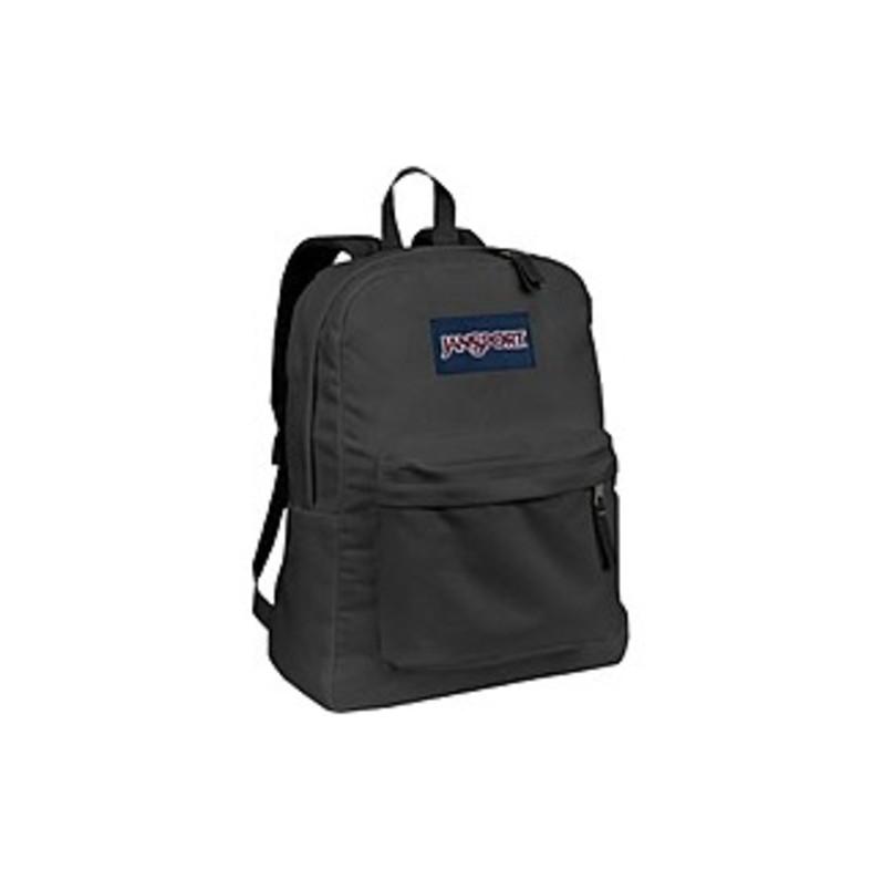 Jansport SUPERBREAK Carrying Case (Backpack) for Accessories - Forge Gray - Polyester - Shoulder Strap, Handle - 16.7