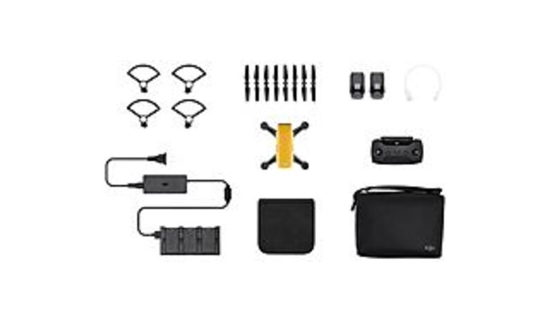 DJI CP.PT.000900 Spark Fly More Quadcopter Combo - 12 Megapixels Integrated Camera - Sunrise Yellow
