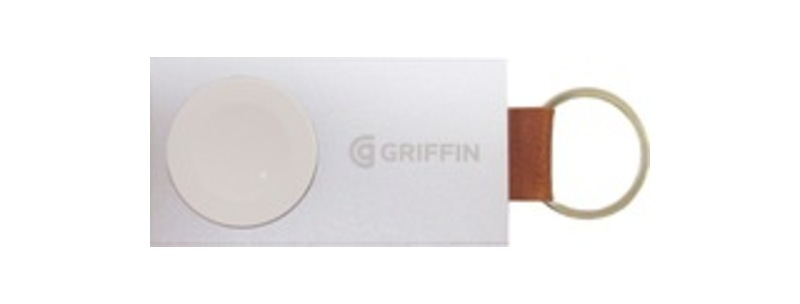 Griffin Travel Power Bank Backup Battery - For Smartwatch - 1050 mAh - 5 V DC Input - 1 x - White