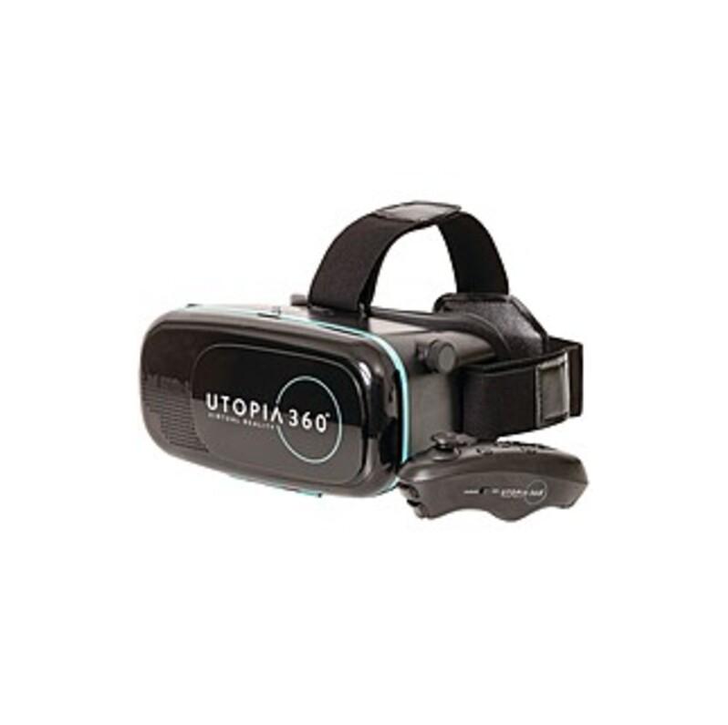 ReTrak Utopia 360° VR Headset + Bluetooth Controller - For Smartphone - Bluetooth - AA - Black
