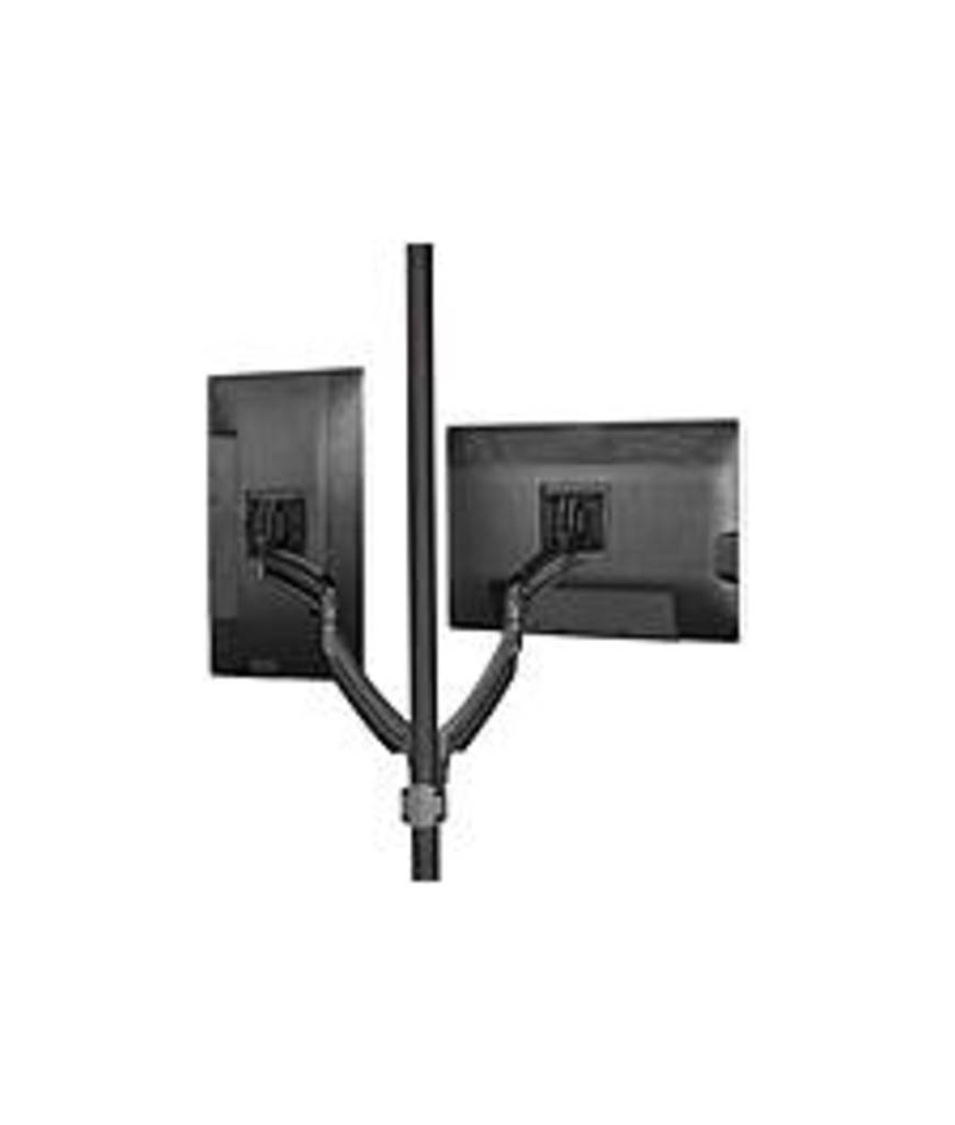 """Chief KONTOUR K2P220B Pole Mount for Flat Panel Monitor - 10"""" to 30"""" Screen Support - 50 lb Load Capacity - Aluminum - Black"""